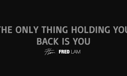 The Only Thing Holding You Back Is YOU